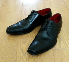 Loake Design Men's EVERETT Derby Lace up Black Leather Shoes Size UK 10 EU 44.5
