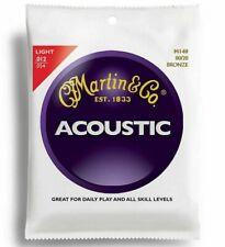 More details for set of martin guitar strings m140 80/20 bronze acoustic 12-54 light