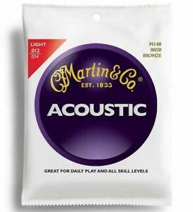 Set of Martin Guitar Strings M140 80/20 Bronze Acoustic 12-54 Light