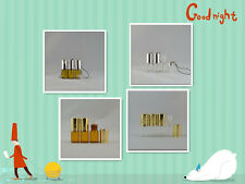 12pcs 3ml glass roll on bottle glass roller ball pendant string clear/brown bott