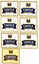 Lot of 7 South Africa Castle Milk Gluko Stout beer labels Tavern Trove