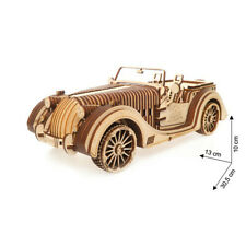 UGEARS 70030 Stagecoach Mechanical Wooden 3d Puzzle Construction Model Kit Toy