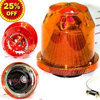 "3"" 76mm Inlet HIGH FLOW Short Ram Cold Air Intake BULLET Cone MESH Filter ORANGE"