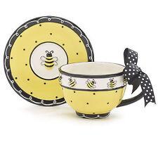 burton+Burton Ceramic Tea Cup & Saucer Gift Set Bee My Honey