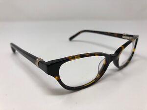 Jones New York Eyeglasses Frame J224 49-16-135 Tortoise Print Flex Hinge WH30