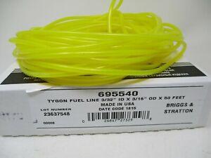 """3/32"""" ID Tygon Fuel Gas Line Briggs & Stratton 3/16"""" OD 695540 50' Roll w Box"""