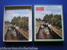 Vintage VICTORY Plywood Jigsaw Puzzle '  Through the Lock Gates   '  1975