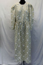 White Elegance Women's Floral Lace Trim Pioneer Dress MW7 Oatmeal Large NWT