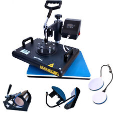 5 in1 Combo Heat Press Transfer Printing Machine DIY T-Shirt Hat Mug Plate 12X15