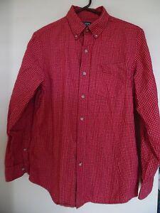 CHAPS RALPH LAUREN Men's  Red Black Label  Plaid Dress shirt Sz S
