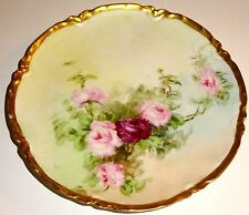 "ANTIQUE Haviland LIMOGES Porcelain HAND PAINTED Floral 6"" PLATE~LOT #1! NR!"