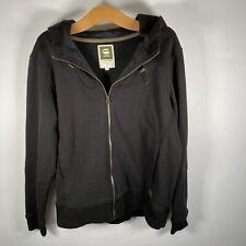 G Star Raw Denim Graham Hooded Vest L/S Jacket Black Excellent Condition Size XL