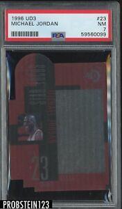 1996 UD3 #23 Michael Jordan Chicago Bulls HOF PSA 7 NM