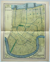 New Orleans, LA - Original 1903 City Map by Dodd Mead & Company