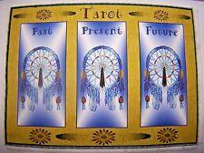Dreamcatcher Tarot Card Mat, Wiccan, crystals divination, Pagan Native American