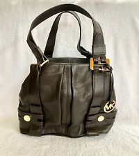 NEW Michael Kors XL Brown Harness Leather ToteHandbag Grab Bag NWT's MSRP $349