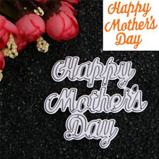 Happy Mother's Day Cutting Dies Stencil DIY Scrapbooking Album Card Embossing