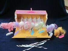 6 Original G1 My little Ponys w/Combs in excell cond in Carry Case 1982 Hasbro