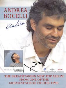 Bocelli, Andrea - Signed Flyer