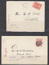 Newfoundland Sc 82, 88 on 1907 & 1911 Covers, fresh
