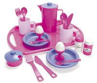 DANTOY KIDS CHILDRENS PLAY PRINCESS PINK LILAC BREAKFAST TEA SET ON TRAY