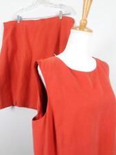 Liz Claiborne Elisabeth 2pc Silk Linen Suit Womens sz 20 Top 22P Skirt NWT $158