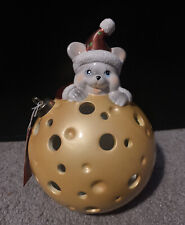 Home Reflections Mouse Chees Flameless Luminary Candle Ornament Shaped Christmas