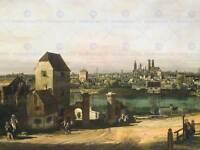 BERNARDO BELLOTTO VIEW OF GRAND CANAL DOGANA OLD ART PAINTING PRINT 355OMA