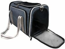 Nargos Expandable Soft Sided Travel Pet Carrier with Fleece Mat-Airline Approved
