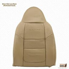 2001 Ford F250 Lariat Driver perforated LEAN BACK Replacment Leather Cover Tan