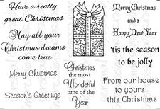 Crafty Impressions A6 Clear Stamps CHRISTMAS PARCEL + MESSAGES CICSA6266 Sue Dix