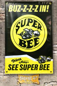 Dodge Fever Super Bee 24''x36'' Garage Shop Banner
