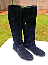 UGG Australia Gracen Tall Equestrian Riding Boots Size 7 Black Suede New $250