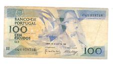 billet de 100 escudos de portugal état occasion voir photo