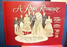 A ROYAL ROMANCE PAPER DOLLS. Peggy Jo Rosamund. 1983 PRINCESS DI & The Prince
