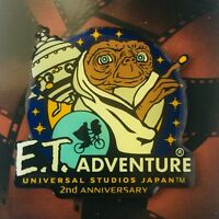 E.T. Adventure 2nd Anniversary Pins UNIVERSAL STUDIOS JAPAN 2002