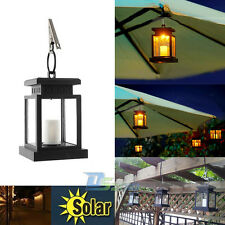 Outdoor Candle Lantern Solar Powered LED Light Garden Yard Wall Landscape Lamp