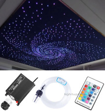 12V 16W RGB LED Fiber Optic Star Ceiling Light Kit 260pcs 2M 0.75mm Home Car