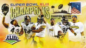 Pittsburgh Steelers Super Bowl XLIII Champions Event Cover Troy Polamalu