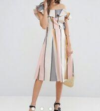 Asos one shoulder stripe dress size 18