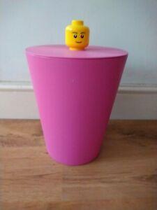 Limited Edition Pink Lego Storage Bucket  31cm Tall Rare