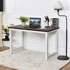 """47"""" Modern Computer Desk PC Laptop Table Study Workstation Home Office Brown"""