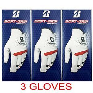 NEW Bridgestone Men's Soft-Grip Golf Gloves (3-Pack) *2-3 Day Ship*