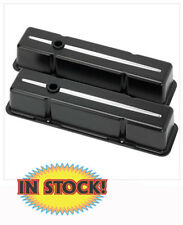 Billet Specialties 95120 Polish Ball Milled Short Valve Covers for SB Chevy