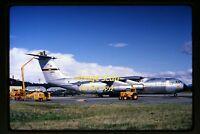 1967 USAF 40611 Lockheed C-141 Starlifter Airplane in Anchorage, Orig. Slide d1b