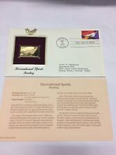 Bowling Stamp, May 20, 1995 FDC first day issue 22kt gold Recreational Sports