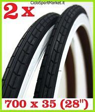 OFERTA - 2 x Neumático para bicicleta Tamaño 28 x 1 5/8 - 1 3/8 ( 700 x 35 )