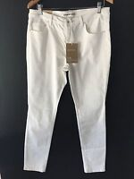 [CR LOVE]  SZ XL (16) NEW! COUNTRY ROAD MID RISE CROP STRETCH JEGGING WHITE Jean