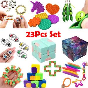 23X Zappeln Sensorisches Spielzeug Fidget Toys Set Autismus ADHS SEN Stressabbau