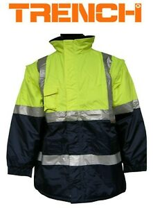 """Hi-Vis Class D/N Two Tone """"2 in 1"""" Jacket With Anti-Pill Polar Fleece Lining"""